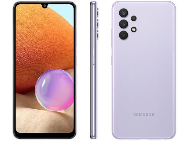Smartphone Samsung Galaxy A32 128GB 4G - Violeta, Câmera Quadrupla 64MP + Selfie 20MP, RAM 4GB, Tela 6.4