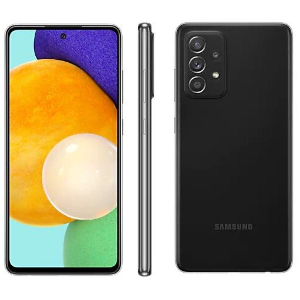 Smartphone Samsung Galaxy A52 128GB - Preto, 5G, Câmera Quadrupla 64MP + Selfie 32MP, RAM 6GB, Tela 6.5