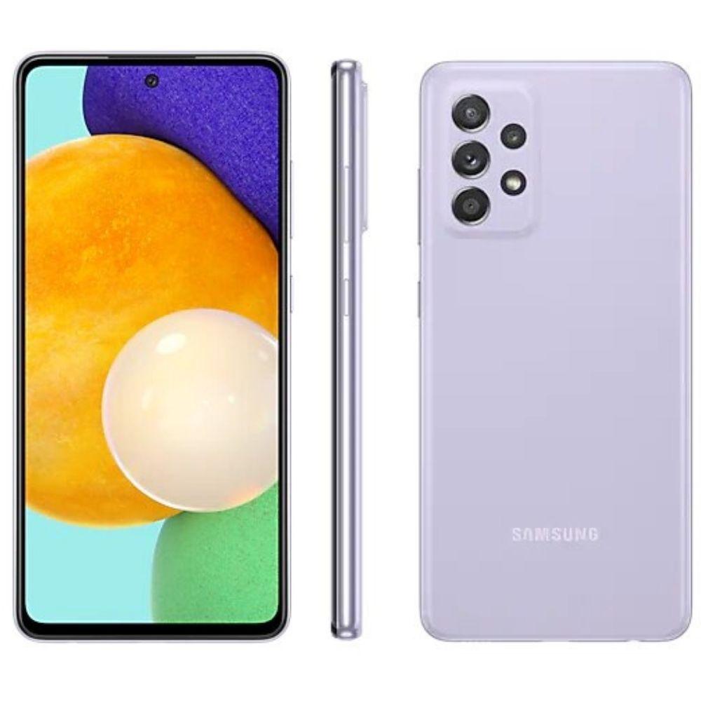 Smartphone Samsung Galaxy A52 128GB - Violeta, 5G, Câmera Quadrupla 64MP + Selfie 32MP, RAM 6GB, Tela 6.5