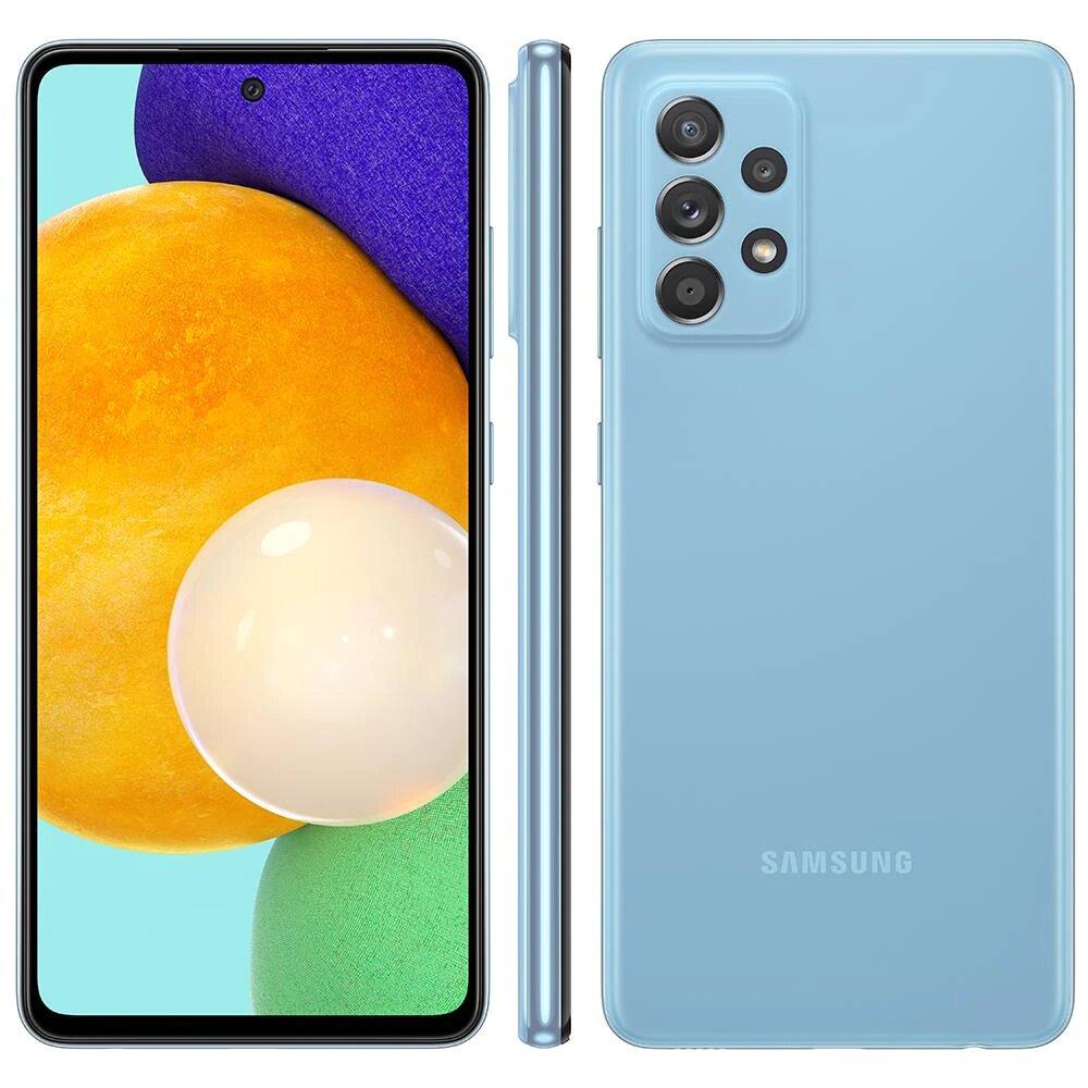 Smartphone Samsung Galaxy A52 128GB - Azul, 4G, Câmera Quadrupla 64MP + Selfie 32MP, RAM 6GB, Tela 6.5