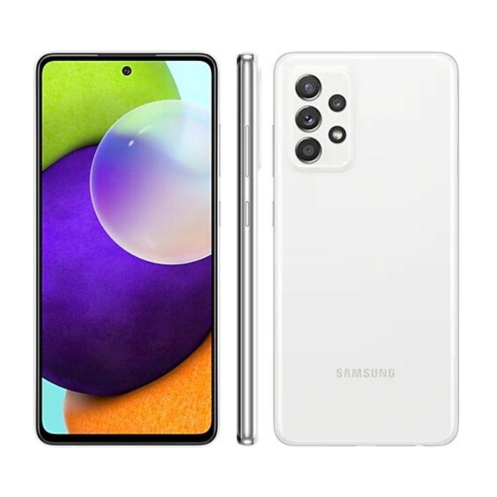 Smartphone Samsung Galaxy A52 128GB - Branco, 4G, Câmera Quadrupla 64MP + Selfie 32MP, RAM 6GB, Tela 6.5