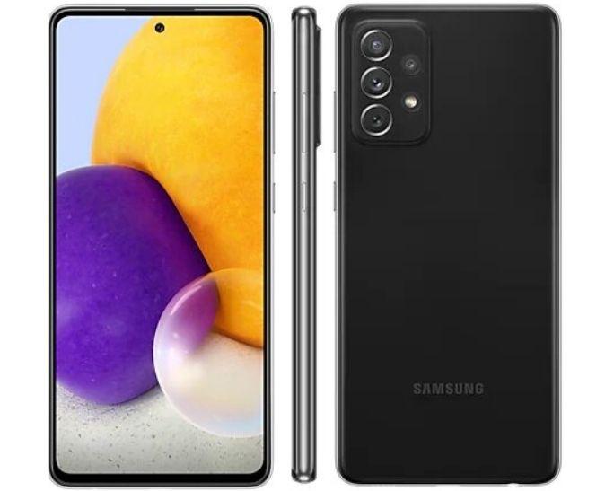 Smartphone Samsung Galaxy A72 128 GB - Preto, 4G, Câmera Quadrupla 64MP + Selfie 32MP, RAM 6GB, Tela 6.7