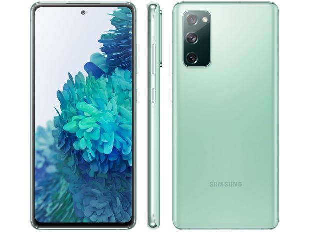Smartphone Samsung Galaxy S20 FE 128GB - Verde, Processador Qualcomm Snapdragon 865 - 2.8GHz, 4G, Câmera Frontal 32MP, RAM 6GB, Tela 6.5