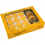 Carimbo de Biscoito Amarelo Plimacor com 9 Estampas