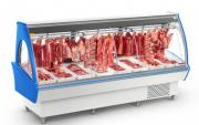 Expositor de Açougue Top 1,5m com Vidro Curvo Refrimate - EAT 1500 VCS
