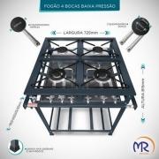 Fogão Industrial 4 Bocas sem Forno Baixa Pressão MR Fogões - 400332