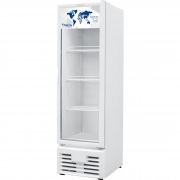 Freezer Vertical Porta de Vidro 248L Branco