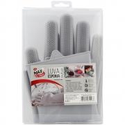 Luva para Limpeza Esponja Silicone Clink - CK2955