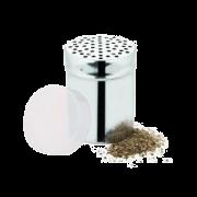 POLVILHADOR MULTIUSO AÇO INOX C/ TAMPA PLASTICA 9X6CM (CX) CHEF