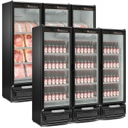 Refrigerador/Expositor Cervejas e Carnes 3 Portas Gelopar - GCBC-1450/PR