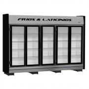 Refrigerador/Expositor Vertical Auto Serviço Frios e Laticínios 5 Portas - Refrimate