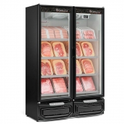 Refrigerador Vertical Conveniência 2 Portas Vidro Preto Gelopar - GCBC-950PR