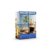 Visa Cooler 1300 Litros Porta Sólida