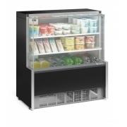 Vitrine Refrigerada 1.10m Vidro Reto 2 Placas Frias Gelopar - GPDA-110R/PR