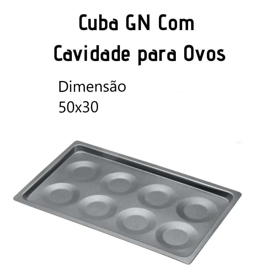 Bandeja com 8 Cavidades para Ovos Forno Combinado - Alumínio ABC