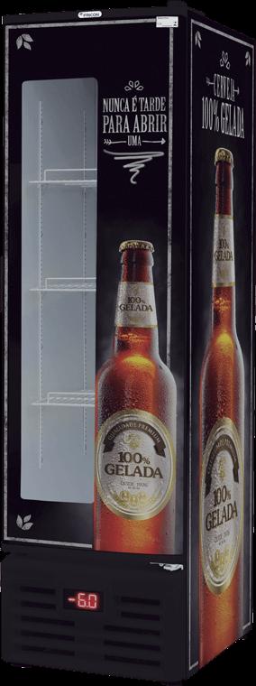 Cervejeira Slim Fricon Porta de chapa com visor 284L 220V - VCFC 284 D
