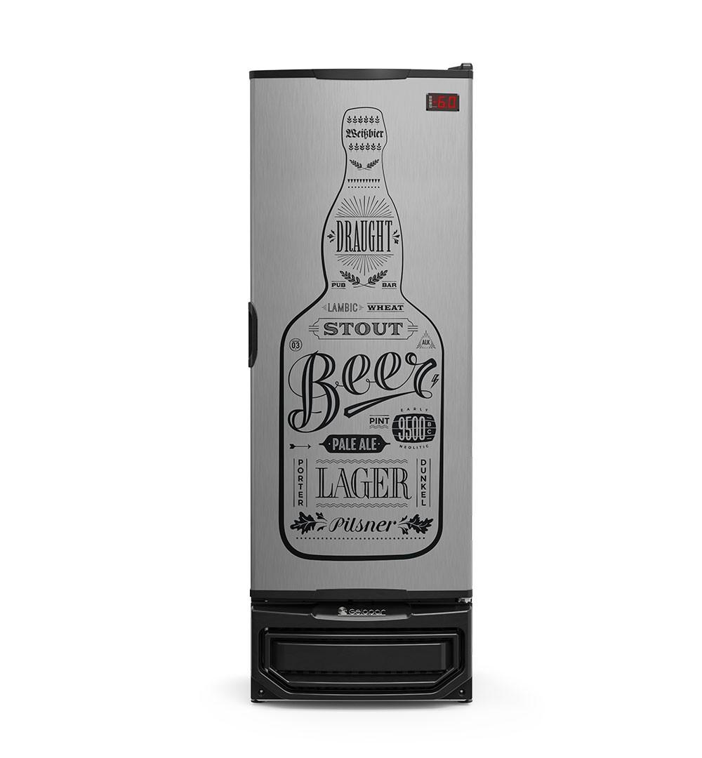 Cervejeira 410 Litros Porta Cega Tipo Inox - Gelopar
