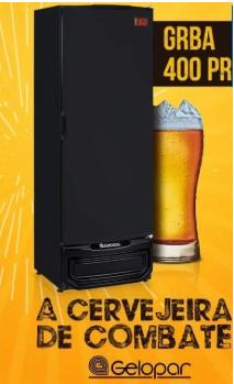 Cervejeira Gelopar 400 Litros 220V Preta