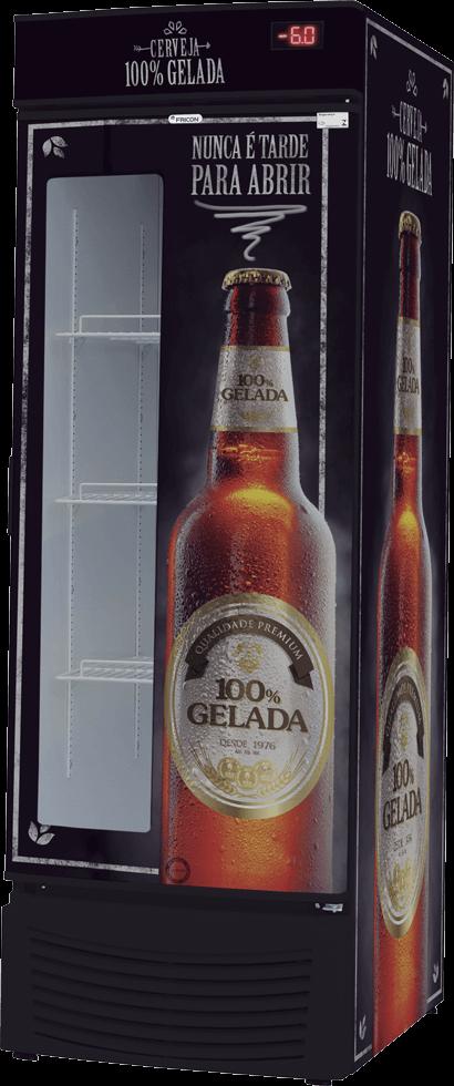 Cervejeira Fricon Porta de chapa com visor 431L Adesivada - VCFC431