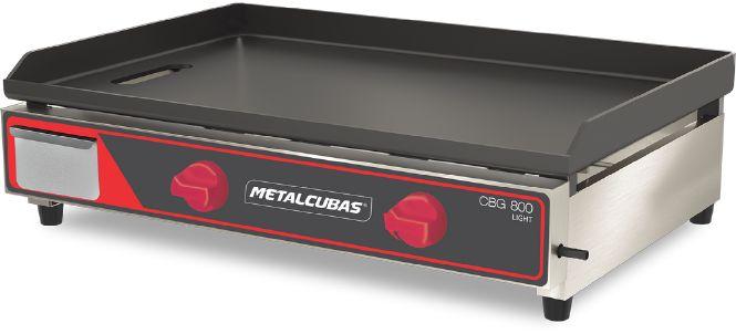 Chapa Bifeteira Gás Light 80cm Metalcubas