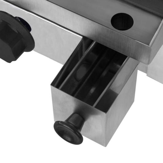 Chapa Profissional a Gás 80 cm Baixa Pressão 3 queimadores CHAP-003 - Kenok