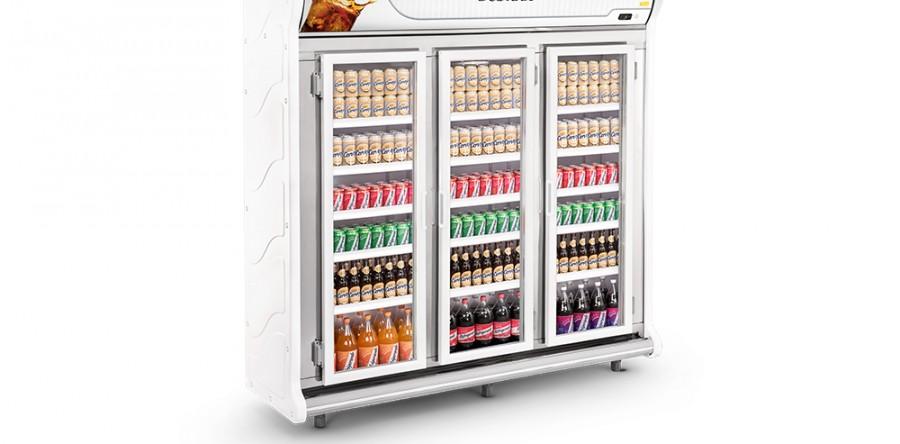 Expositor de Bebidas 3 Portas Refrimate - ASB2000