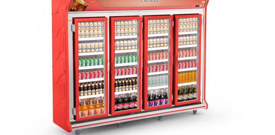 Expositor de Bebidas 4 Portas Refrimate - ASB2500