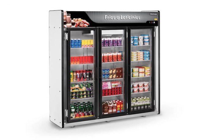 Expositor Frios e Laticínios 3 Portas Plus Refrimate - ASFL3PP