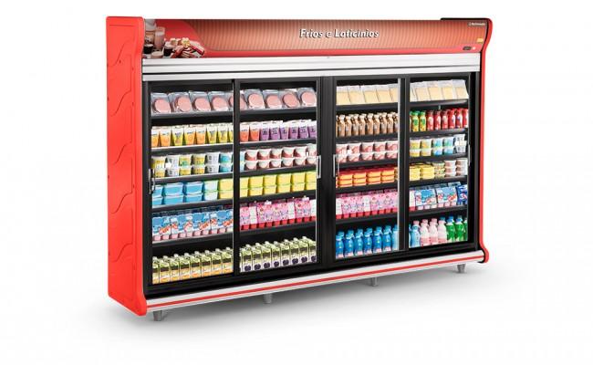 Expositor Frios e Laticínios 4 Portas Refrimate - ASFLPC3000