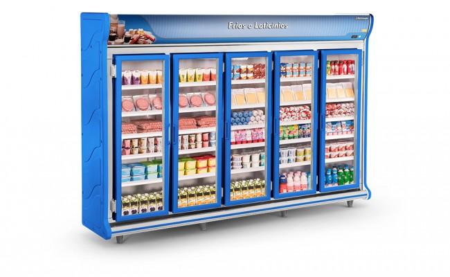 Expositor Frios e Laticínios 5 Portas Refrimate - ASFL3000