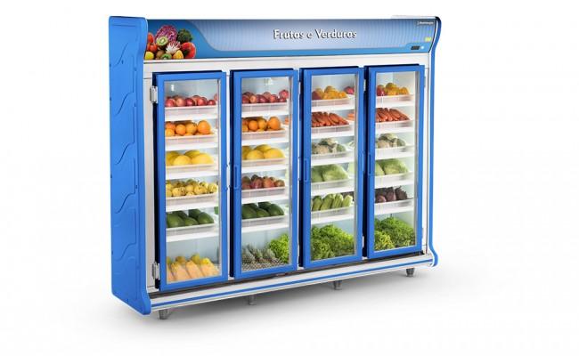 Expositor Frutas e Verduras 4 Portas Refrimate - ASFV2500
