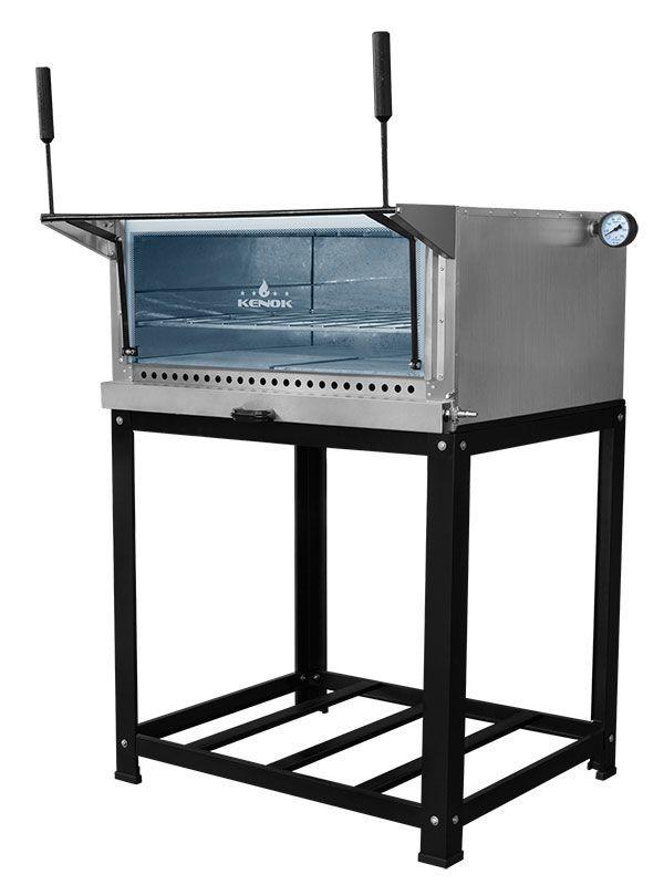 Forno Á Gás Refratário Kenok  44 Litros Com Grill Infravermelho Cavalete - FGR/CC-471