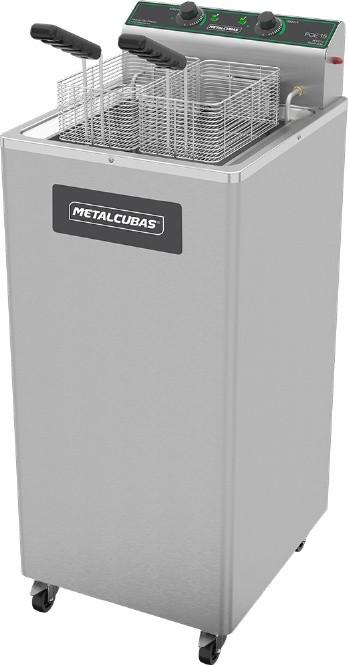 Fritadeira Elétrica 15 Litros Zona Fria de Oléo com Pedestal Metalcubas - FOE15P