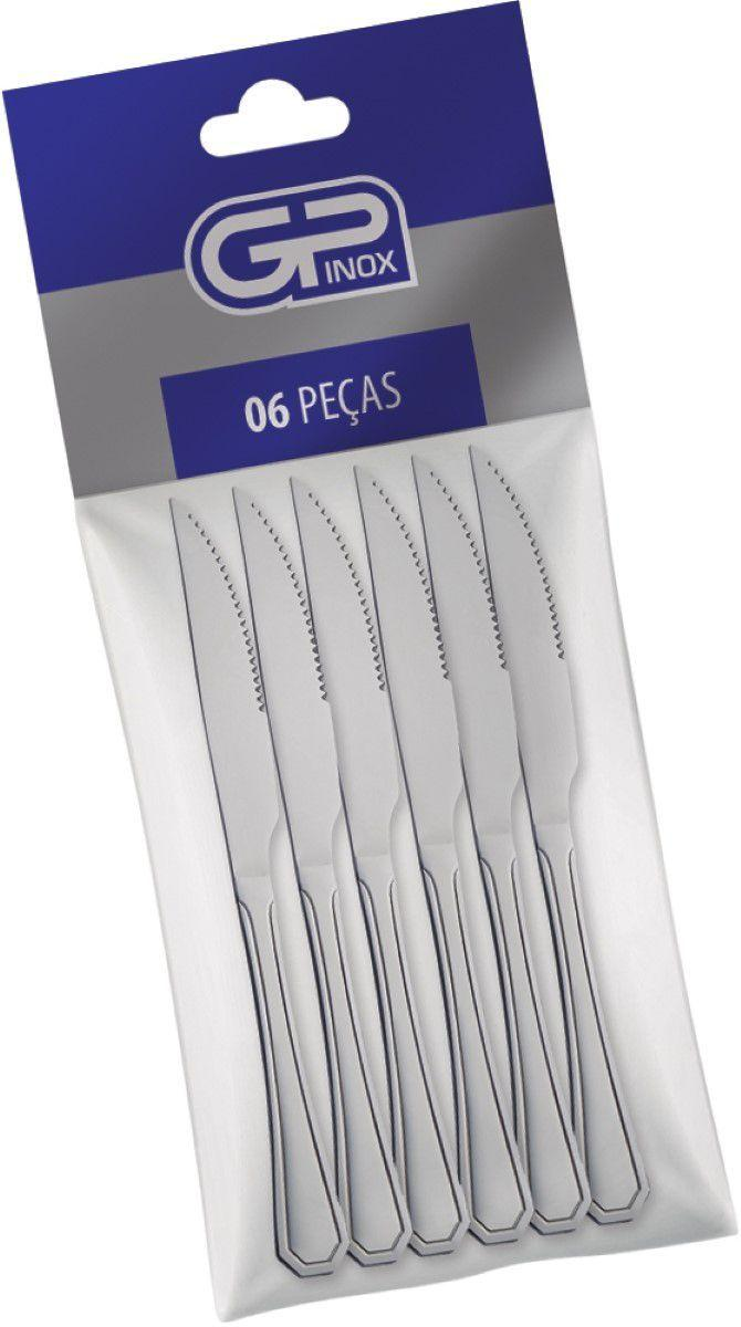 Kit de Faca de Churrasco 6 Peças Linha Premium - GP Inox