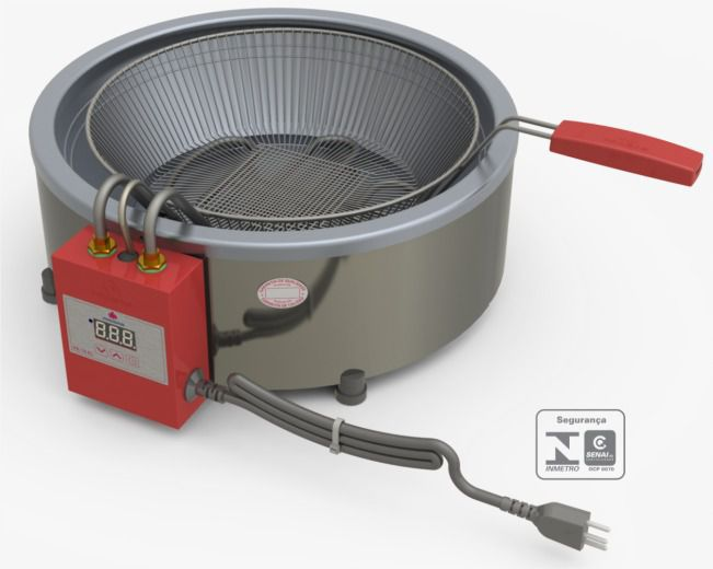 Tacho Fritador Eletrônico 7 Litros 220v Progás Pr-70el
