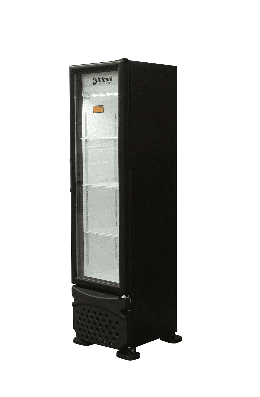 Visa Cooler Imbera 230L Porta Vidro Preto
