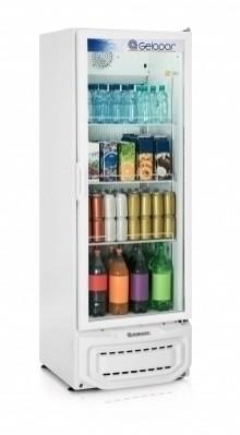 Visa Cooler Gelopar 414 Litros Porta De Vidro Branco
