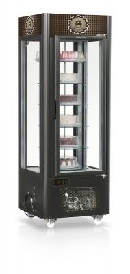 Vitrine Refrigerada para Bolos Giratória 0,75 Gelopar - GEVB075/PR