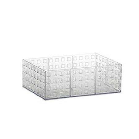 Organizador Empilhável Quadratta 23x16x8 Cm Cristal