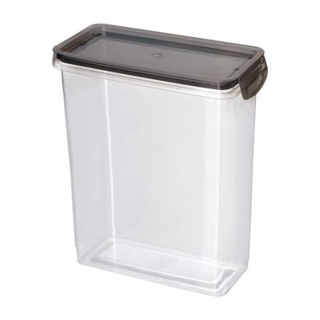 Porta Mantimento Trava Mais Retangular Cristal - 3 L