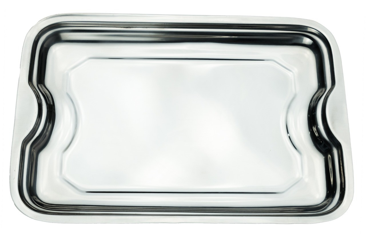 Bandeja Retangular Aço Inox 35 Cm