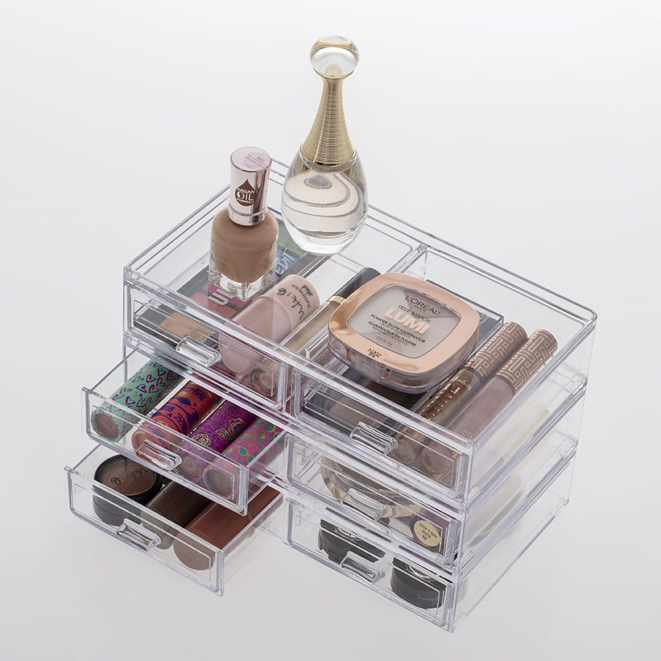 Caixa Organizadora com 2 Gavetas 21,5x12,5x5 Cm