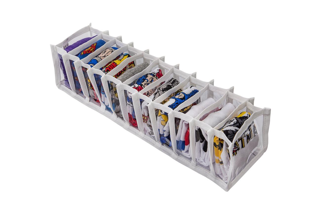Colmeia Organizadora - 11 Nichos - 10X38X8,5 Cm - Branco