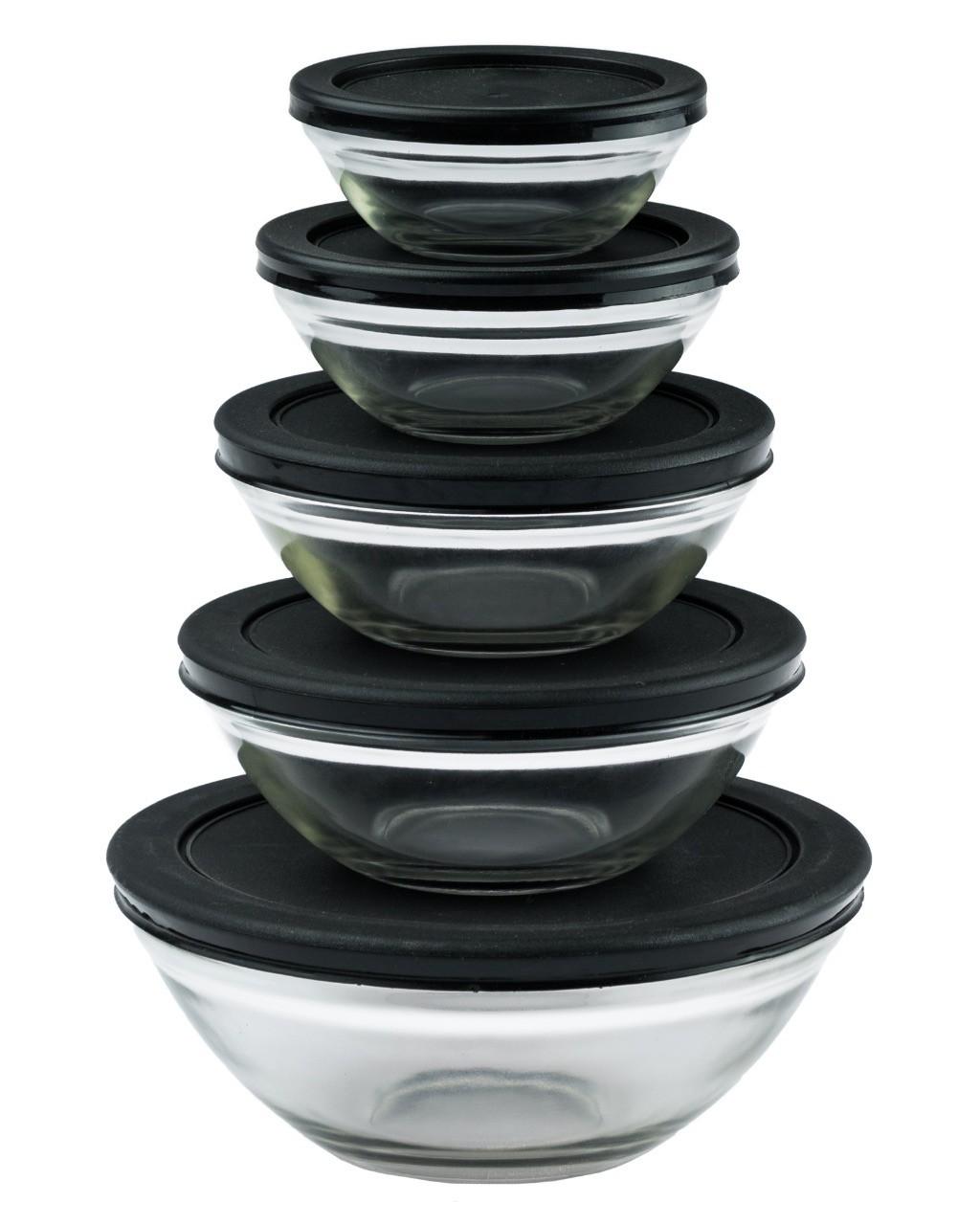 Conjunto de Potes de Vidro 5 Peças