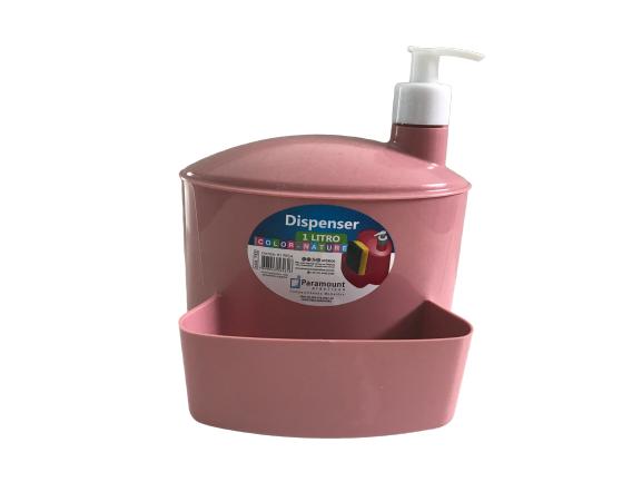 Dispenser Porta Detergente/Esponja Color 1 L