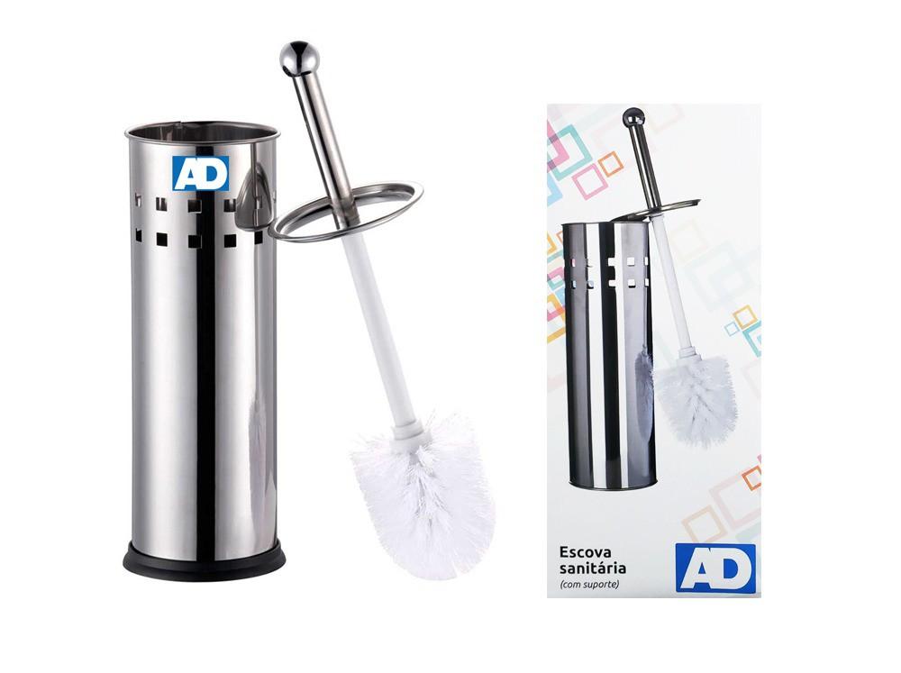 Escova Sanitária Aço Inox com Suporte