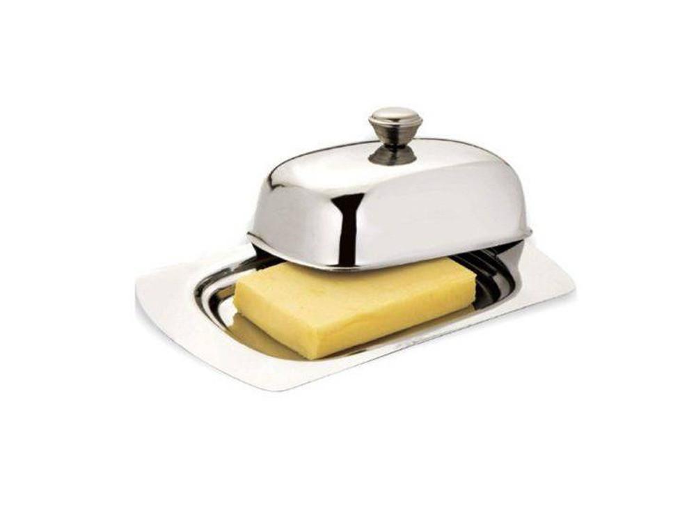 Manteigueira com Tampa Aço Inox