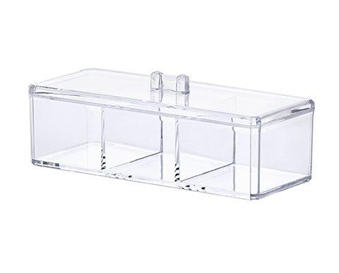 Organizador Cosméticos c/ Divisórias 23x9x8,5 Cm