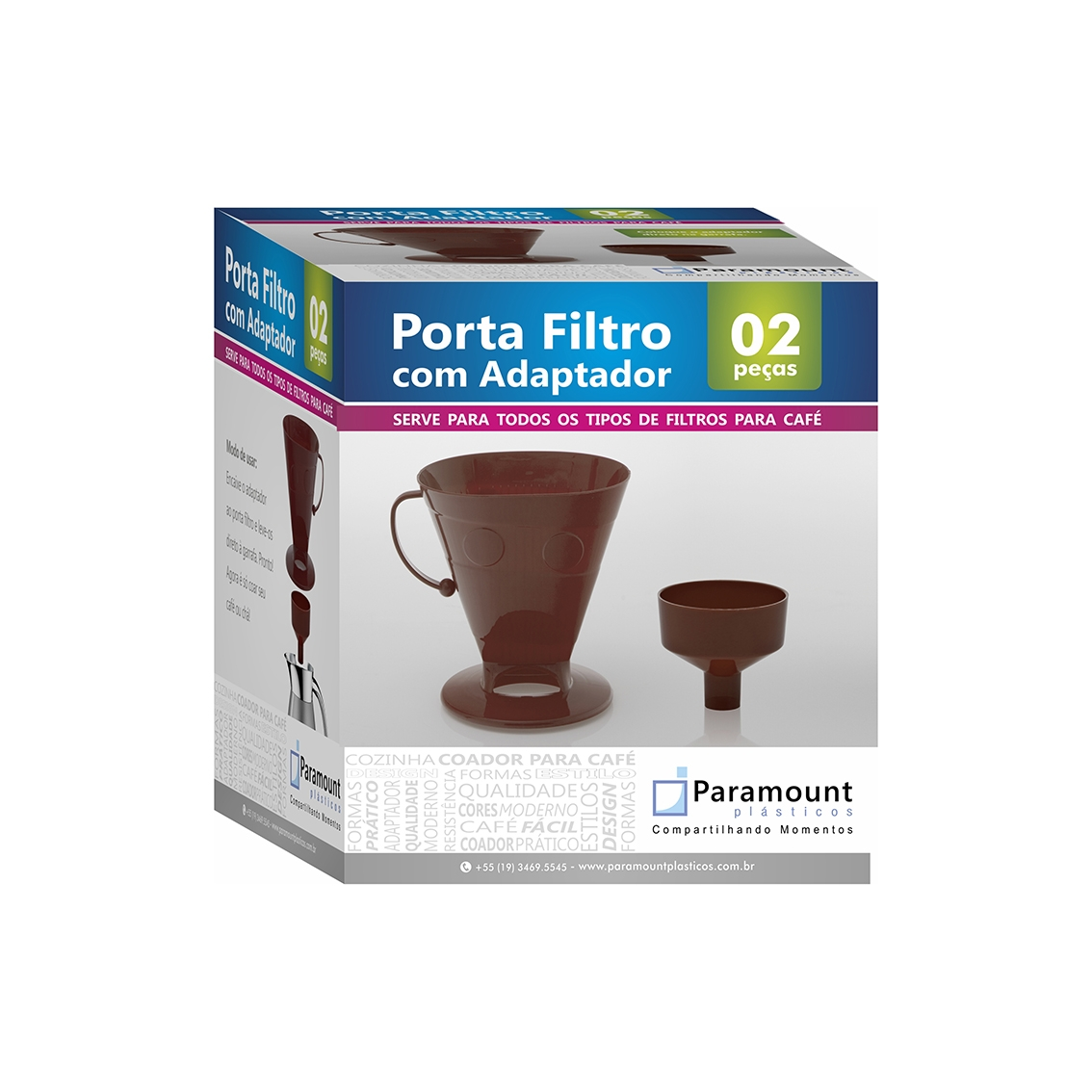 Porta Filtro p/ Café - Cinza
