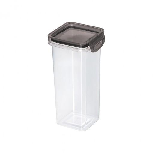 Porta Mantimento Trava Mais Quadrado Cristal - 1,24 L